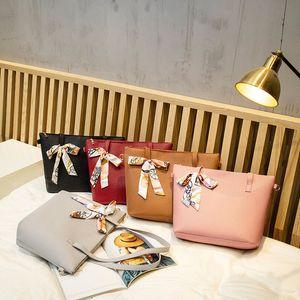 nNew designer handbag silk scarf handbag large capacity simple casual handbag single shoulder diagonal portable litchi pattern ladies handba