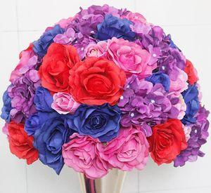 2020 SPR Tabla Centerpiece Flower Ball Artificial Rose Wedding Flowell Fell Backdrop para Party Market1