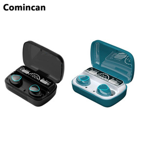 Новые беспроводные наушники M10 Bluetooth TWS Stereo Runing Earbuds Shump Отмена со светодиодным дисплеем Наушники Power Power Bank Case Case