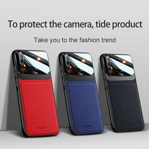 cuir affaire pour Xiaomi MI8 Lite MI9 MI10 CC9 Pro SE MI 10T POCO X3 NFC en cuir Résistance CHOCS Chute Protection des yeux Couverture souple Funda