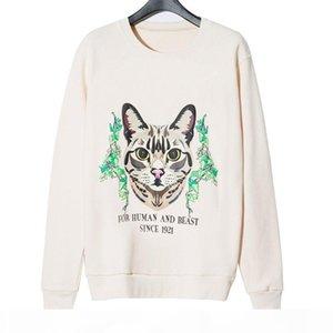 Fashion Stylist Mens Sweatshirt Jacket 2020 Winter Top Quality Super Soft Sweashirts Men Women Pullover Long Sleeve Hip Hop Cat Sweat Shirt