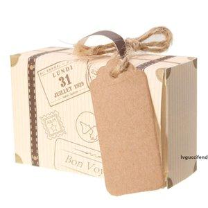 Favor de regalo Mini Maleta 10pcs Box Kraft Wedding Candy Boxes Party Supply Newoutletzzlt