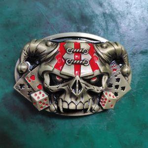 1 Pcs Skull Sheep Head Western Cowboy Belt Buckle For Rock Men Fit 4cm Jeans Belt Head