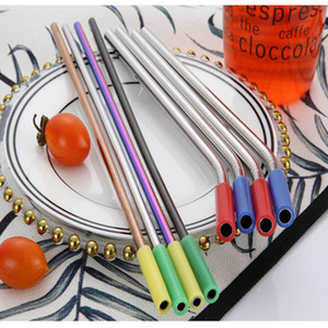 multicolor Silicone Tips Cover For Stainless Steel Drinking Straw Silicone Straws Tips Fit For 6mm Wide Straws Silicone Tubes Straw Cover