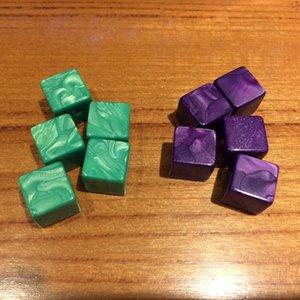16 мм Пустые Dice D6 Квадратный угол Специальный Цвет Куб Акриловые Кости Игра Дети Образовательные DIY Игрушка Многоцветные Смешные Детские игры # B45