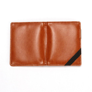 Creative PU Leather Men's Wallet Fashion Stainless Steel Dollar Clip Multi-card Card Holder Card Holder