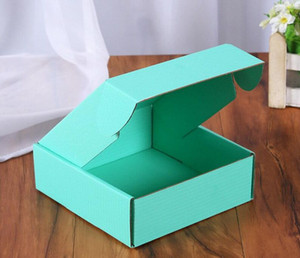 Corrugated Paper Boxes Colored Gift Wrap Packaging Folding Box Square BoxJewelry Packing Cardboard 15*15*5cm