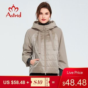 Astrid 2020 Frühlingsmantel Frauen Outwear Trendjacke Kurze Parkas Casual Mode Weibliche Hochwertige warme dünne Baumwolle ZM-86011