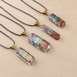 HandMade Resin Natural Stone Aurora Necklace With Small Personality And Easy To Match Men And Women Long Sweater Chain Clothing Accessories