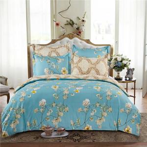 Homesky 100% Microfiber Comforter Set Bedding Set Bed Linen Duvet Cover Blue No Filler Home Textile Single Double King Twin Size