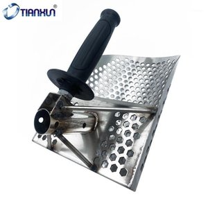 Beach Treasure Hunting Sand Scoop for Metal Detecting Stainless Steel with Hexahedron 7Mm Holes Fast Sifting Metal Detector1