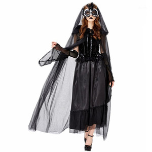 New Vampire Witch Costume Halloween Carnival Party Cosplay Dark Ghost Bride Costume1