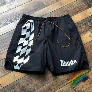 Racing Track Impression Rhude Shorts Hommes Femmes Rhude Imprimer Short Été Bonne Qualité Oversize Duech Duper Doublure X1116