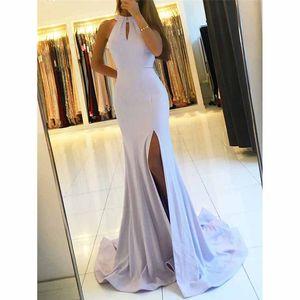White evening dress female 2020 new spring banquet noble elegant fishtail sexy fashion celebrity dinner dress