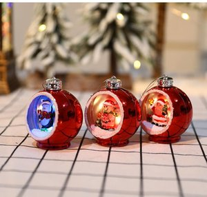 6 Style Christmas Lights Christmas Ornaments Electroplating Luminous Christmas Ball Lights Xmas Gifts LED Xmas Decorations HWF3462