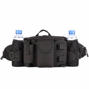 Men Outdoors Waterproof Nylon Mountaineering Riding Hunt Chest Waist Bags Shoulder Bags Tactical Pack Water Bottle Kettle Pouch