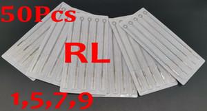 Drop Shipping 50 adet Paket 1rl 5RL 7RL 9RL Çeşitli Steril Dövme İğneleri Tek Kullanımlık Tedarik