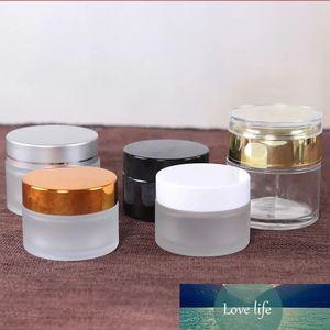 100 adet 20g Buzlu Amber Cam Kavanoz Bosx Kozmetik Krem Şişe Yüz Kremi Gümüş Kap Cam Kılıf Kozmetik Saklama Kapları