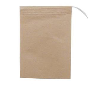 100 قطعة / الوحدة متعددة حجم الشاي أكياس تصفية الطبيعية غير المظهر ورقة الشاي حقيبة التخلص من الشاي infuser حقيبة فارغة مع أكياس الرباط DHE3356