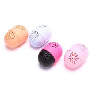 Силиконовая красота Губка для хранения Ящик для хранения яйцо подставка для порошковой слоестойкой сушки Держатель мучнистой росы косметический закладки