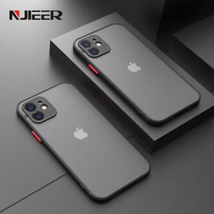 Funda para el teléfono de la silicona a prueba de golpes para el iPhone 12 11 Pro Max Mini x XR XS MAX 8 7 6 6S PLUS SE 2020 Cubierta mate transparente de lujo
