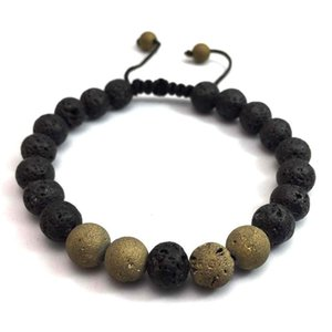 Women Men Bracelets Natural Stone Bracelets 8MM Tiger Eye Hematite Black Obsidian Stone Tricolor Bracelet Wholesale Kimter-X932FZ