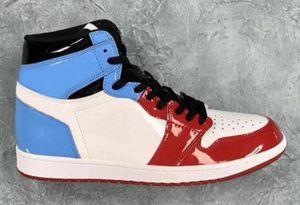 Daha iyi Kalite 1 Yüksek OG Korkusuz Chicago Kırmızı Beyaz UNC Mavi Basketbol Ayakkabıları Erkekler Kadınlar 1s Korkusuz Spor Sneakers Kutusu