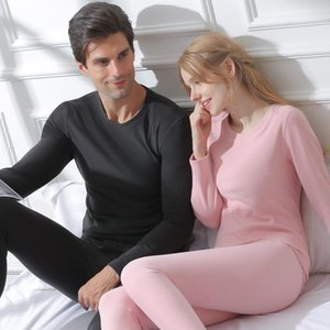 Men Women Cotton Thermal Underwear Men Underwear Ground Wool Heat Long Johns Women Warm Undershirt