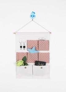 Wäsche / Baumwollgewebe über Wall Türschleife Fenster hängen Aufbewahrungskoffer Organizer Bag Muti Tasche