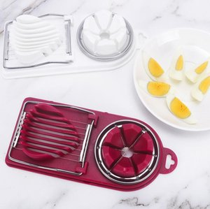 Egg Slicer Cooking Tools Creative 2in1 Cut Multifunction Kitchen Eggs Slicer Sectione Cutter Mold Flower Edges Gadgets Home Tools GWB3265