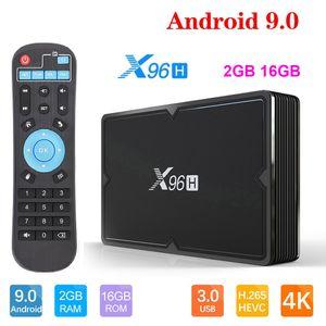 X96H Allwinner H603 Chip Android 9.0 TV Box 2GB 16GB Support 2.4G WIFI Smart TV PK X96 MINI