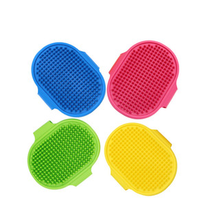 Dog Bath Brush Comb Silicone Pet SPA Shampoo Massage Brush Shower Hair Removal Comb For Pet Cleaning Grooming Tool NWA2634