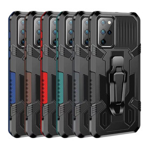 Armadura Combo Shell Clip Phone Case para Samsung S20 Plus Nota 20 5G Ultra A A01 Core Moto G8 G Stylus