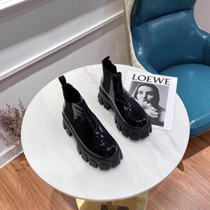 2021 Дизайнерские Женщины Университет Ботинок Обувь Мода Кожа и Нейлон Мартин Сапоги для Женских Обувь для вечеринок на открытом воздухе Точное качество
