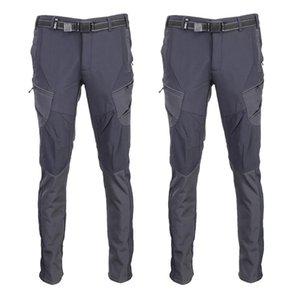 Men Winter Fishing Windproof Camping Fleece Outdoor Hiking Pants Climbing Trouser