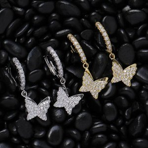 Butterfly Earrings Dangle Hinged Earrings Hypoallergenic Hoop Huggie Earrings Gothic&Punk Style for Men and Women 2 colors