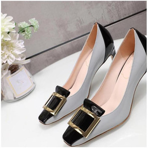 Fashion thin shoes small leather shoes women's shoes high heels high quality cowhide leather