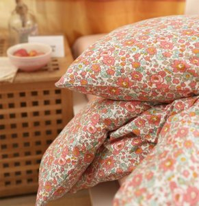 Red floral bedding set teen kid girl,Knitting cotton twin full queen King romantic home textile bed sheet pillowcase duvet cover