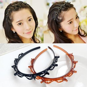 New Double Layer hairpins Hairbands Braided Headband Hair Hoop Fashion Womens Headwear Hair Accessories tools ACC123