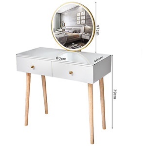 Dresser Table Modern Style Dresser Table Set Make-up Dressers Wooden Legs Bedroom Furniture Dressing Table Mirror With Chair Set Vanity