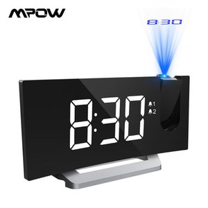 Mpow HM353 Projection Clock FM Radio Digital Alarm Clock Table Decor Electronic Desktop With LED Display Snooze Function
