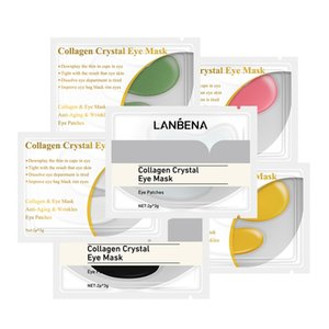 DHL LANBENA 24K Gold Eye Mask Collagen Eye Patches Anti Dark Circle Puffiness Eye Bag Moisturizing Skin Care