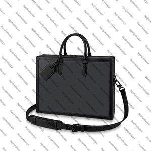 Çanta Yumuşak Omuz M44952 Kutusu Messenger Trunk Tasarımcı Çanta Kabartmalı Evrak Çantası Portföy Kılıfı Ataşe Çanta Erkekler Tote Dana FIPBQ
