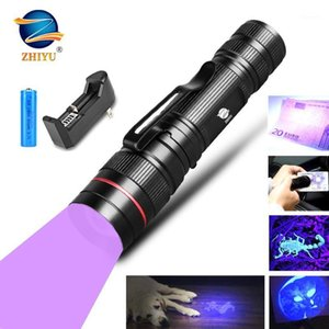 Flashlights Torches UV395 Ultraviolet Light With Zoom Function Linterna UltraVioleta Pet Urine Stains Detector Scorpion Use 14500 Battery1