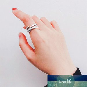 925 Sterling Silver Irregular Retro Opening for Women Jewelry Accessories Simple and Stylish Multi-layer Winding Ring
