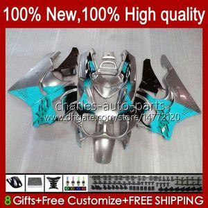 Body For HONDA CBR893 cyan silvery CBR 893RR 900RR 900 893 RR 94HC.131 CBR893RR 89 90 91 92 93 CBR900RR 1989 1990 1991 1992 1993 Fairing kit