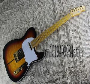 Бесплатная доставка 2021 новый Sunburst Custom Shop Tuff Dog Signature Electric Guitar Quintana Tiger Maple Golden
