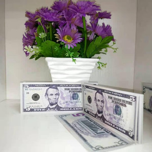 Gift Quality Best Prop Fake New 5 Dollar Movie Banknote Party Money Children Banknote 004 Currency Toy Ojefo