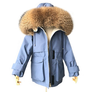 MAOMAOFUR Duck Down Jacket Ladies Winter Thick Warm Coat With Big Real Raccoon Fur Collar Women Down Feather Parka