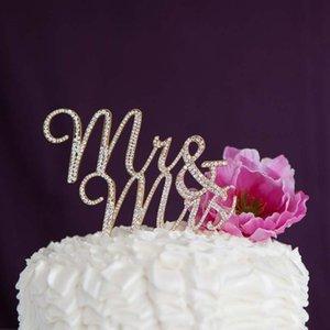 السيد السيدة حجر الراين كعكة توبر الزفاف خطوبة الذكرى عيد ميلاد حزب الزفاف دش عيد الحب الديكور الفضة الذهب